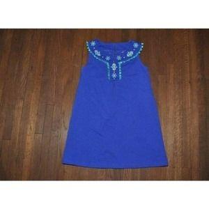 Gymboree Safari Smiles Embroidered Dress Size 8